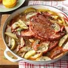 Apple-Topped Ham Steak