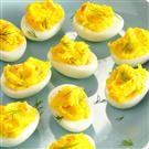 Smoked Salmon Deviled Eggs with Dill