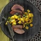 Spicy Pork Tenderloin with Mango Salsa
