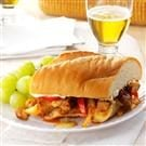 Chicken Fajita Submarine Sandwiches