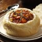 Vegetarian Stew in Bread Bowls
