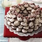 Chocolate-Candy Cane Meringue Wreath