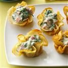 Ham-Spinach Crepe Cups