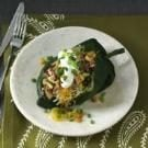 Fiery Stuffed Poblanos