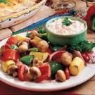 Roasted Vegetables with Dip