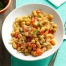 Coconut-Ginger Chickpeas & Tomatoes