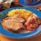 Breaded Pork Chops for Two