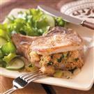 Herb Stuffed Pork Chops Recipe | Taste of Home