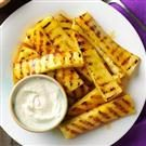 Smoky Grilled Pineapple with Lime Dip