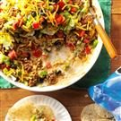 Ground Beef Taco Dip