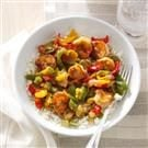 Ginger-Chutney Shrimp Stir-Fry