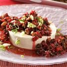 Gingered Cran-Orange Salsa over Cream Cheese