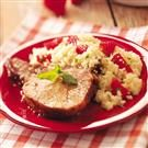 Glazed Pork with Strawberry Couscous