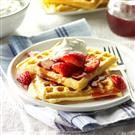 Golden Buttermilk Waffles