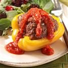 Grilled Beef-Stuffed Peppers