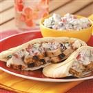 Grilled Turkey Pitas