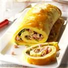 Ham 'n' Cheese Omelet Roll