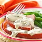 Ham with Mustard-Cream Sauce