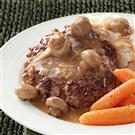 Hamburger Steaks with Mushroom Gravy