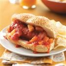 Hawaiian Kielbasa Sandwiches