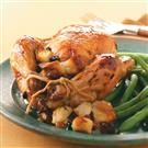 Honey-Glazed Hens with Fruit Stuffing for Two