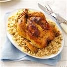 Lemon-Roasted Chicken with Olive Couscous