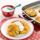 Loaded Cheddar-Corn Potato Patties