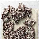 Oreos and Candy Cane Chocolate Bark