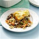 Parmesan Chicken with Mushroom Wild Rice