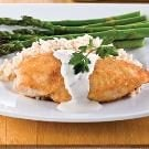 Parmesan-Crusted Chicken in Cream Sauce