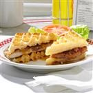 Pecan-Crusted Chicken Waffle Sandwiches