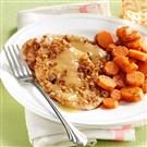 Pecan Turkey Cutlets with Dilled Carrots