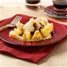 Phyllo Apples With Rum Raisin Sauce