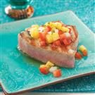 Pineapple Pico Tuna Steaks