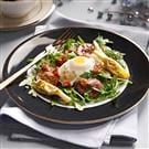 Poached Egg Salads with Pancetta Vinaigrette