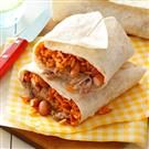 Pork, Bean & Rice Burritos