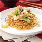 Pork Stir-Fry with Noodle Nests