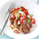 Pork Tenderloin Medallions with Strawberry Sauce