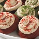 Red and Green Velvet Cookies