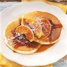 Ricotta Pancakes with Cinnamon Apples