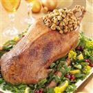 Roasted Goose with Savory Garlic Stuffing