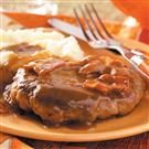 Salisbury Steak with Bacon