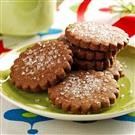 Scalloped Mocha Cookies