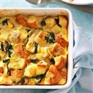 Spinach and Artichoke Bread Pudding