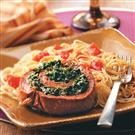 Spinach Flank Steak Pinwheels