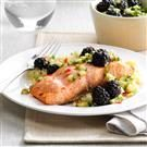 Sweet-Chili Salmon with Blackberries