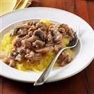 Turkey Stroganoff with Spaghetti Squash