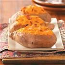 Twice-Baked Sweet Potatoes with Bacon