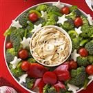 Vegetable Wreath with Dip