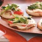 Veggie-Cheese Mini Pizzas